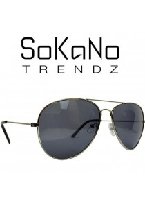 SoKaNo Trendz 3026 Unisex Casual Sunglasses Grey Frame with Grey Lens (Free Sunglasses Case)