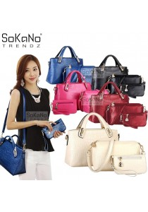 SoKaNo Trendz Elegant Faux Crocodile Leather Bags- Set of 3