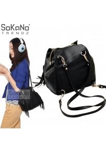 SoKaNo Trendz SKN739 2 Way Premium PU Leather Bag (Black)