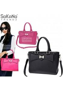 SoKaNo Trendz SKN807 Big Bow Design Premium PU Leather Bag