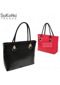 SoKaNo Trendz SKN808 Large Capacity Premium PU Leather Bag
