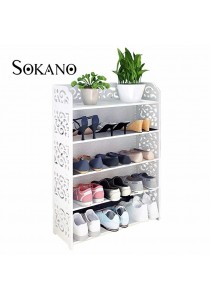 SOKANO WF003 5 Tiers European Style Shoe Rack White