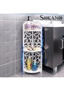 SOKANO WF004 European Style Water Resistant Wooden Corner Rack White