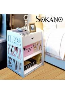 SOKANO WF005 European Style Beside Tables For Bedroom White