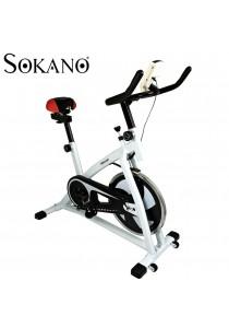 SOKANO XY01 Premium Grade Iron Wheel Spinning Fitness Exercise Bike- White