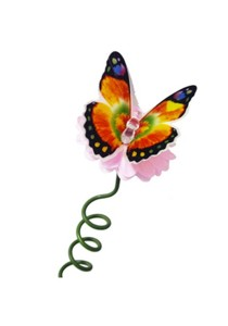 Solar Light Bendable Butterfly Stick Light (Multicolor)