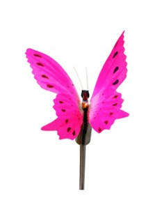 Solar Light Fiber Optic Butterfly Stick Light