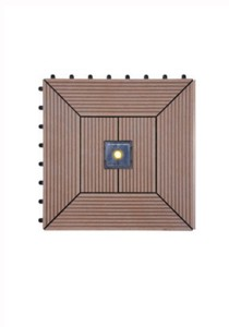 Solar Garden Floor Tile 4 LED Light