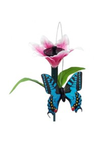 Solar Garden Fluttering Butterfly LED Stick Light (Lily)