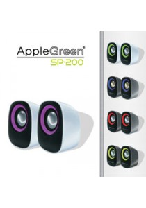 Apple Green 2.0 USB Mini Speakers SP200