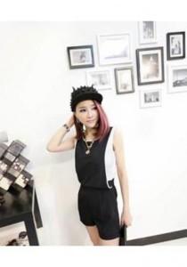 Stylish One Piece Jumpsuit - SP75749 (Black)