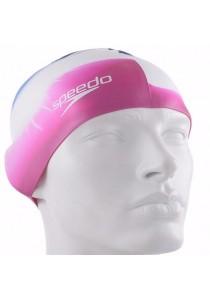Speedo Multi Colour Silicone Cap (Pink/White/Navy)