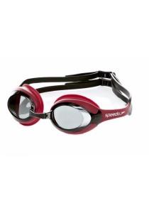 Speedo Merit Goggle - (Red/Smoke)