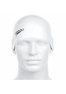 Speedo Plain Moulded Silicone Cap (White)