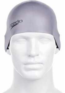 Speedo Plain Moulded Silicone Cap (Chrome)