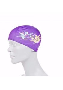 Speedo Polyester Printed Cap Junior (Purple)