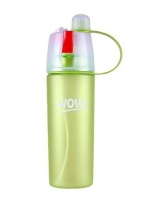 FASHION TEE Wow Spray Outdoor Sport Bottle Dual Chamber Sip-n-Spray 600ml (Green)