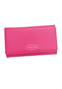 Momorain Korean Fashion Iconic Faux Leather Multifunction Wallet (Hot Pink)