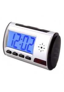 Spy Digital Table Clock Security Hidden Camera Motion Detector DVR