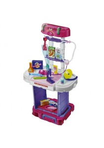 Little Doctor Pretend PlaySet With travel Luggage Trolley