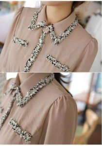 Korean Fashion OL Top - ST213165 (Khaki)