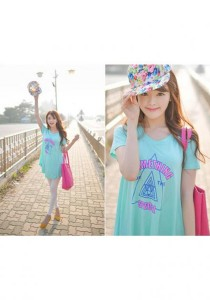 Fashion Casual Cotton Top - ST74823 (Blue)