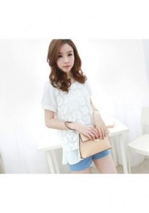 Korean Stylish Chiffon Top - ST76176 (White)