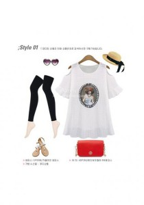 European Fashion Long Top - ST76177 (White)