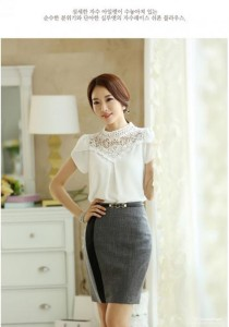 Korean Fashion Chiffon Top - ST77026 (White)
