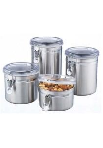 Set of 4 Stainless Steel Canister (1750ml / 1450ml / 1150ml / 750m)