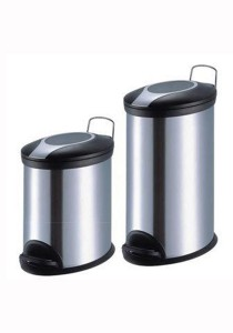 Stainless Steel Oval Pedal Dustbin 12L