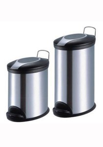Stainless Steel Oval Pedal Dustbin 20L