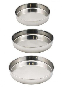 Set of 3 Stainless Steel Cake Tray (28cm / 32cm / 36cm)
