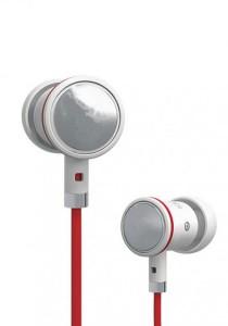 Stereo Earphone Red White