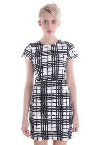Angel Check Shift Dress A008WHS