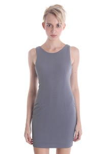 Angel Grey Fitted Dress A022GYS