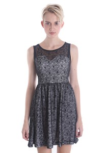 Angel Fully Lace Coacktail Dress A037BKS
