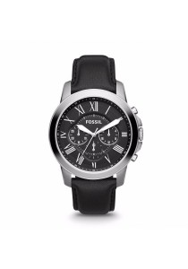FOSSIL FS4812 Men's Grant Chronograph Black Leather Watch