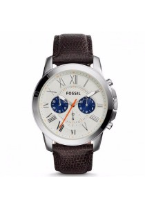 FOSSIL FS5021 Men's Grant Chronograph Brown Leather Watch