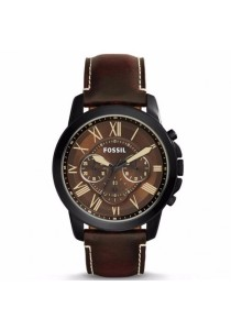 FOSSIL FS5088 Men's Grant Chronograph Brown Leather Watch