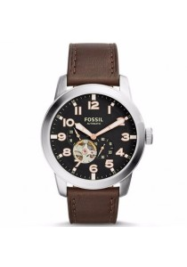 FOSSIL ME3118 Pilot 54 Automatic Dark Brown Leather Watch