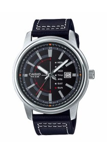 CASIO Analog Man Leather MTP-E128L-1AV