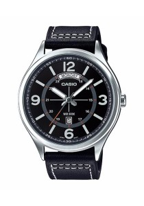 CASIO Analog Man Leather MTP-E129L-1AV