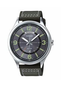 CASIO Analog Man Leather MTP-E129L-3AV