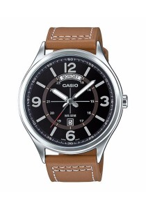 CASIO Analog Man Leather MTP-E129L-5AV