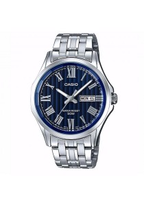 CASIO Analog Man D.DATE S.Steel MTP-E131DY-2AV
