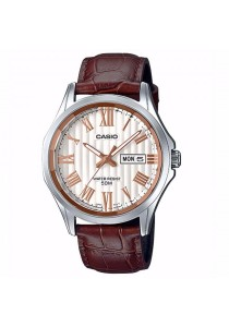 CASIO Analog Man D.Date Leather MTP-E131LY-7AV