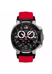 TISSOT T-Race T048.417.27.057.01 Quartz Chronograph Red Silicone Men's Watch