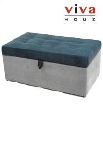 Sunny Storage Ottoman - Grey