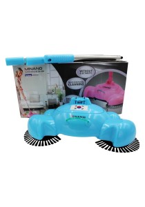 4-in-1 MINANO Korea Hand-Propelled Sweeper Without Electricity (Blue)